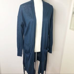New Ann Taylor Loft blue cardigan sweater